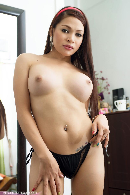 Awesome Tgirl Vitress Tamayo Gets Buck Naked