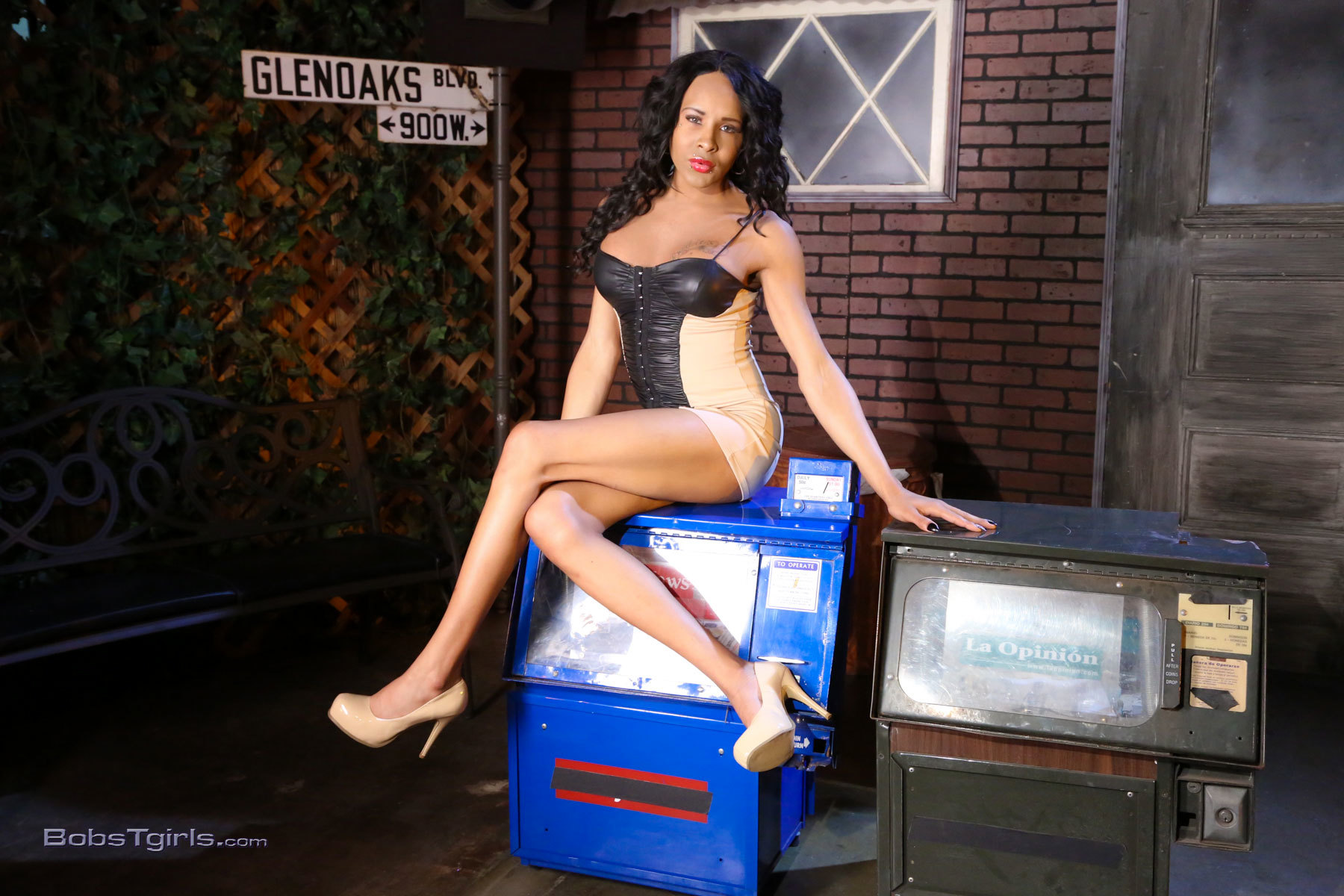 Chyna Posing Her Big Cock