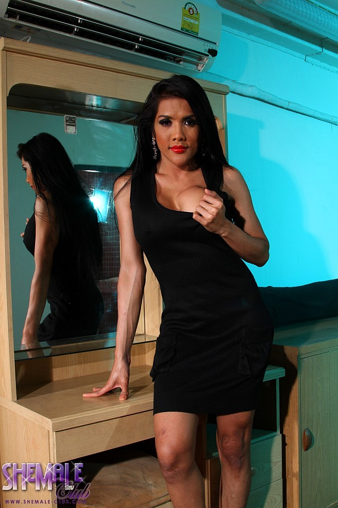 Exotic T-Girl Joy Flashes It All