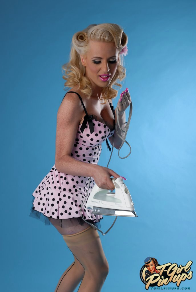 Flirtatious Juliette Stray Exposing Her Candy Stick