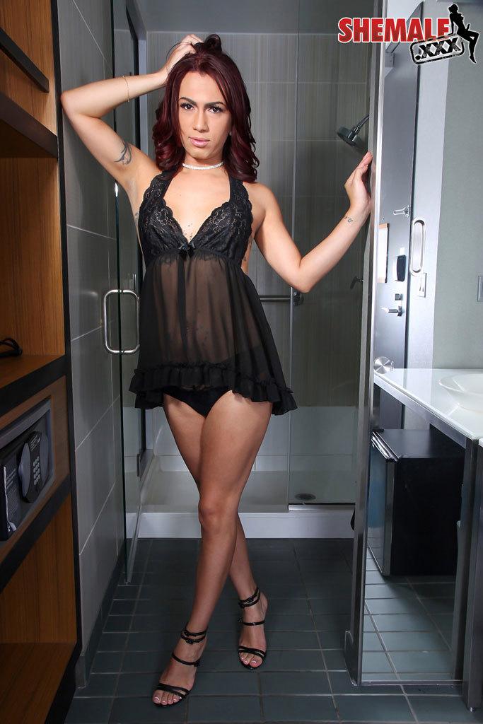 Melody Mayheim Wanks Her Beautiful Cock!