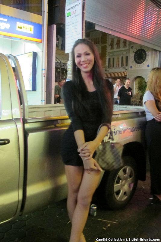 Slutty Pattaya Trannies On The Street Looking For Customers
