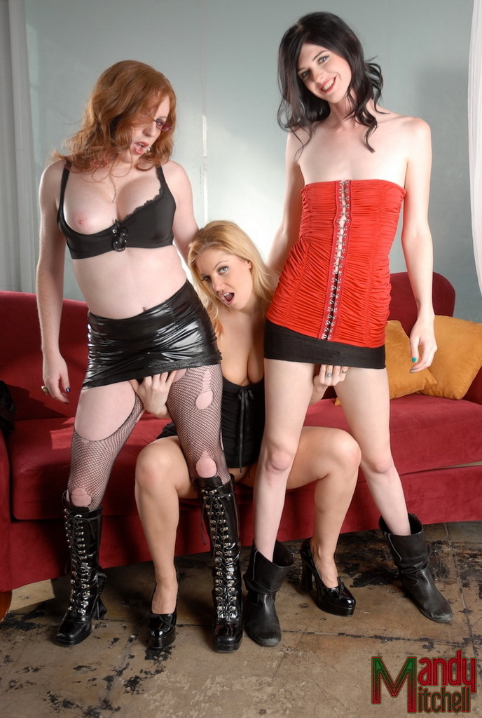 Two Filthy Shemales And A Nasty Girl In A Yummy Three Way