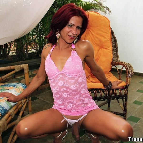 Check Out Spicy Small Titty Mini Dress Shemale Get Drilled Har